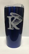 KU Metallic Tumbler - Blue