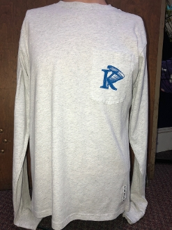 KU Vintage Wash Long Sleeve - Light Gray