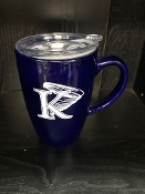 KU Coffee Mug with Lid - Navy