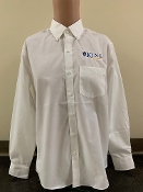 KU Mens Button Down Shirt - White