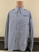 KU Mens Button Down Shirt - Blue