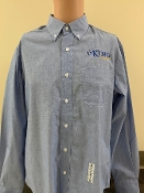 KU Mens Button Down Shirt - Gray