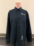 KU Mens Button Down Shirt - Black