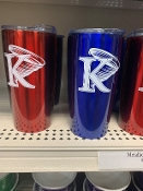 KU Metallic Travel Mug - Red